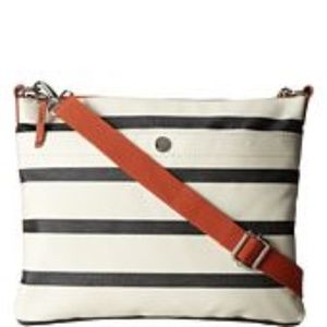 FOSSIL Navy Cream Striped Crossbody Bag
